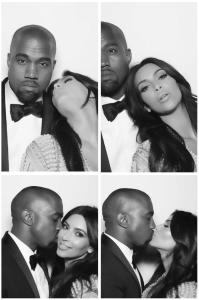 Kim Kardashian fotomatón día de su boda