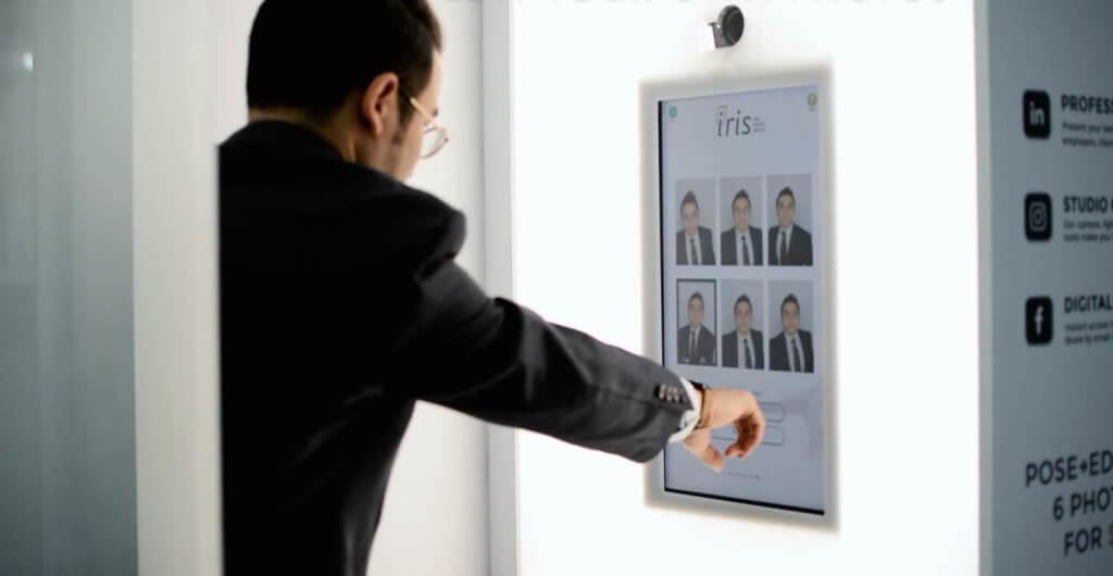 imagen del interior cabina par fotografías corporativas IRIS