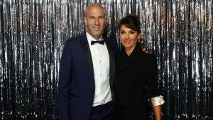 Zinadine Zidane y esposa en fotomatón premios FIFA The Best